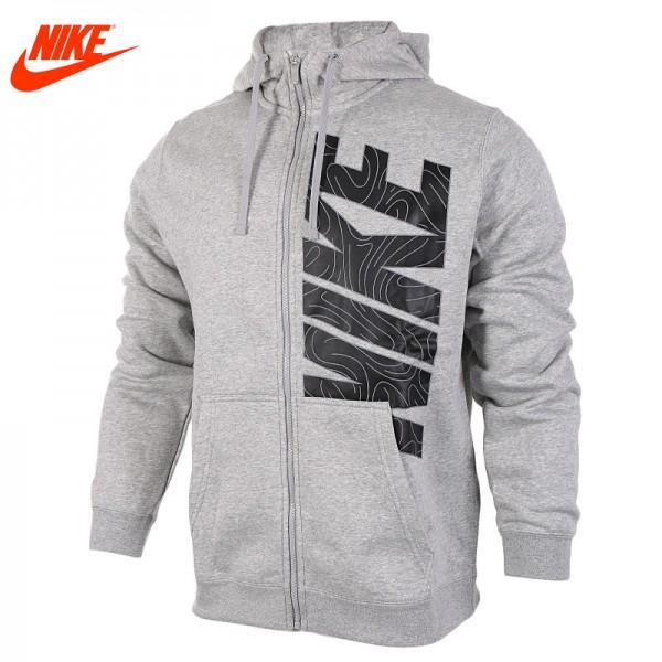 Nike Original men's spring sportswear outdoor training Hoodie Grey Blue jacket