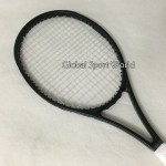 OEM Black customs Tennis Racquets 100% graphite  tennis rackets Full black 41/4,43/8,41/2 Free shipping