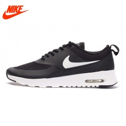 Official NIKE New Arrival Breathble Black AIR MAX THEA Women's Running Shoes Sneakers