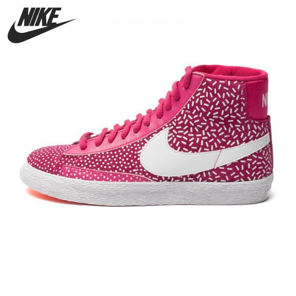 Original   Nike WMNS BLAZER MID PRINT women's Skateboarding Shoes 536698-603 High-top sneakers
