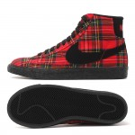 Original   Nike WMNS BLAZER MID TEXTILE PRM women's Skateboarding Shoes 685207-600 High-top sneakers