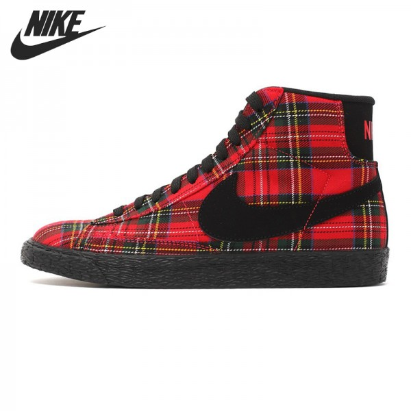 Original   Nike WMNS BLAZER MID TEXTILE PRM women's Skateboarding Shoes 685207-600 High-top sneakers