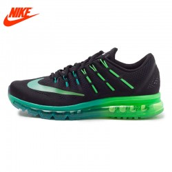 Original NIKE Breathable AIR MAX Men's Running Shoes Sneakers Blue Green Sole