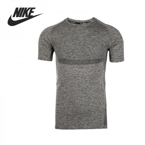 Original NIKE DRI-FIT KNIT SS Men's Running T-shirts short sleeve Sportswear