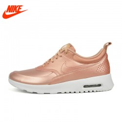Original NIKE Leather-made Waterproof W AIR MAX THEA SE Women's Running Shoes Sneakers