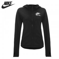 Original NIKE RU MIX FABRIC WINDRUNN women's jacket  Hoodie sportswear