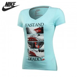 Original NIKE Women's Knitted T-shirts Short-sleeved Sportswear