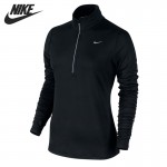 Original New Arrival  NIKE ELEMENT HALF ZIP Women's T-shirts Long sleeve Sportswear