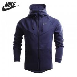 Original New Arrival  NIKE TECH FLEECE WINDRUNNER Men's Jacket Hooded Sportswear