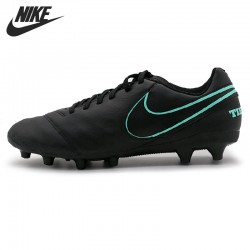 Original New Arrival  NIKE TIEMPO GENIO II LEATHER AG-PRO  Men's Soccer Shoes Sneakers