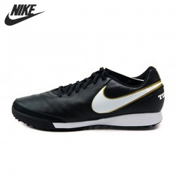 Original New Arrival  NIKE TIEMPOX GENIO II LEATHER TF Men's Soccer Shoes Football Shoes Sneakers