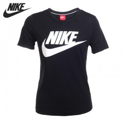 Original New Arrival 2017 NIKE AS W NSW ESSNTL TEE HBR Women's T-shirts short sleeve Sportswear
