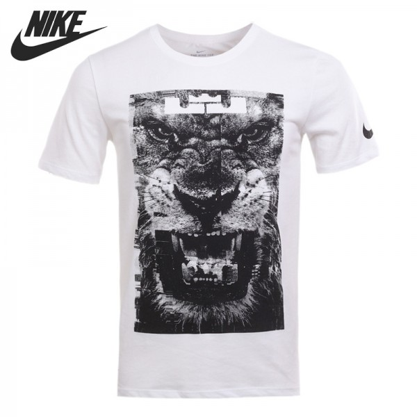 Original New Arrival 2017 NIKE DRY TEE LION Men's T-shirts short sleeve Sportswear