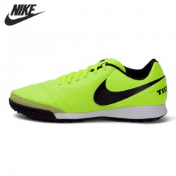 Original New Arrival 2017 NIKE TIEMPOX GENIO II LEATHER TF Men's Football Shoes Soccer Shoes Sneakers