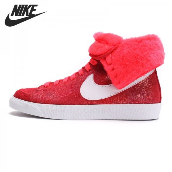 Original New Arrival 2017 NIKE WMNS BLAZER HIGH ROLL SUEDE Women's Skateboarding Shoes Sneakers