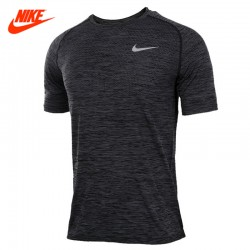 Original New Arrival 2017 Summer Breathable Official NIKE KNIT TOP Men's T-shirts short sleeve Sportswear