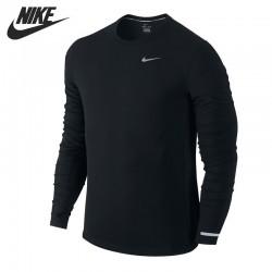 Original New Arrival NIKE Dr-Fit Contour Men's T-shirts Long sleeve Sportswear