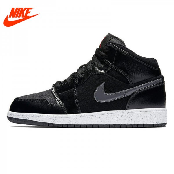 Original New Arrival NIKE Men's High Top Leather Breathable Basketball Shoes Sneakers
