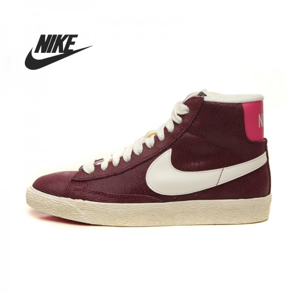 Original   NIKE BLAZER MID SUEDE VINTAGE Women's Skateboarding Shoes 518171-611-407 sneakers free shipping