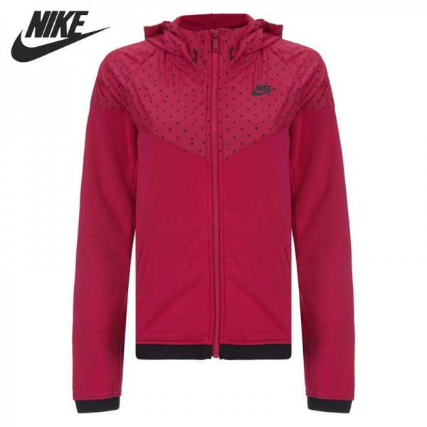 Original NIKE RU WR FINSHR OVRLY HDY Women's jackets Hooded Sportswear