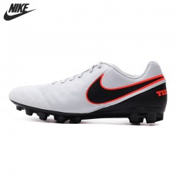Original New Arrival 2016 NIKE TIEMPO GENIO II LEATHER AG-R Men's Soccer Shoes Sneakers free shipping