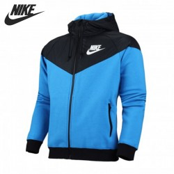 Original New Arrival NIKE WINDRUNNER-FLEECE MX men's  jacket Hooded Sportswear  free shipping