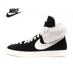 Original New Arrival Nike WMNS BLAZER HIGH ROLL SUEDE Women's Skateboarding Shoes sneakers free shipping