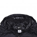 Original    Nike AS LEBRON HOOD HYBRID DOWN JKT men's Down coat 616944-010 Hoodie jacket sportswear free shipping