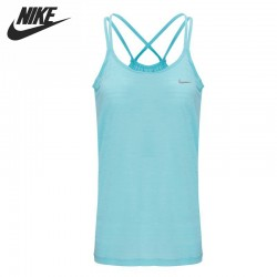 Original Nike AS NIKE DF COOL BREEZE STRAPPY Women's knitted Vests Sleeveless Sportswear