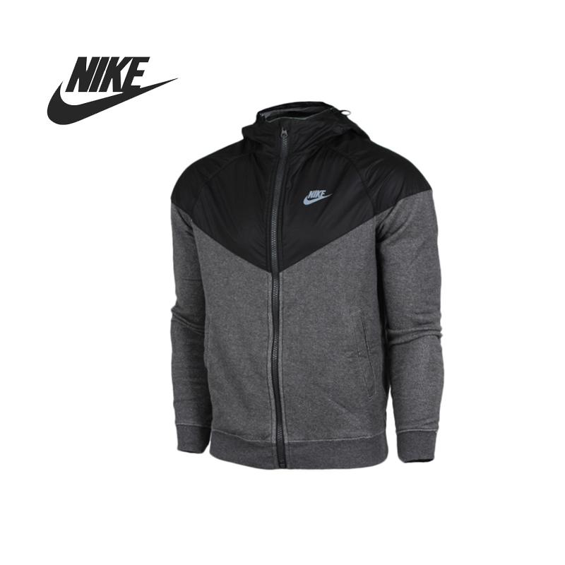 Original Nike AS NIKE FLEECE MIX RU WR men's jacket Hooded