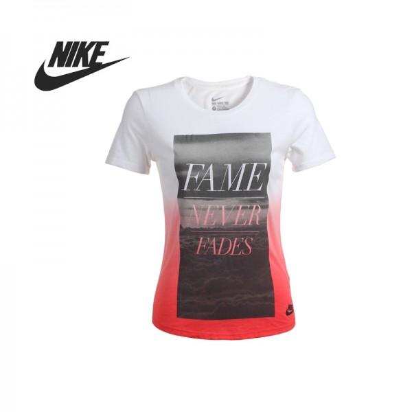 Original   Nike AS NIKE TEE-FAME NEVER FADEST women's knitted T-shirts 686962-103-102 Sportswear free shipping
