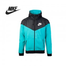 Original Nike AS NIKE WINDRUNNER-FLEECE MX men's jacket  Hooded sportswear free shipping