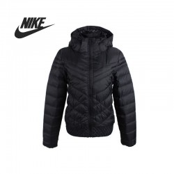 Original   Nike CASCADE DOWN JACKET-HD women's Down coat 541411-011 Hoodie jacket sportswear free shipping