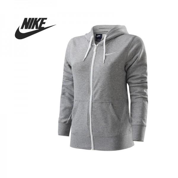 Original  Nike CLUB FT FZ HOODY-SWOOS women's  jacket  sportswear  free shipping