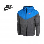 Original Nike Men's Jacket Hooded Patchwork sportswear free shipping