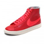 Original   Nike WMNS BLAZER MID LEATHER women's Skateboarding Shoes 375573-612  High-top sneakers free shipping