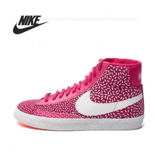 Original   Nike WMNS BLAZER MID PRINT women's Skateboarding Shoes 536698-603 High-top sneakers free shipping