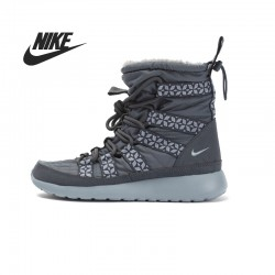 Original  Nike WMNS ROSHERUN HI SNEAKERBOOT women's Skateboarding Shoes 615968-200 High-top sneakers free shipping