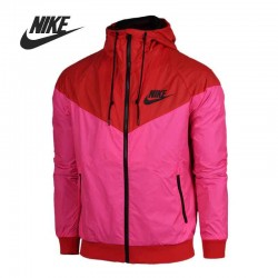 Original Nike  Women's Jacket Hooded  Patchwork Sportswear free shipping