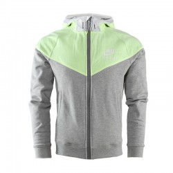 Original Nike men's jacket  Hooded Patchwork sportswear free shipping