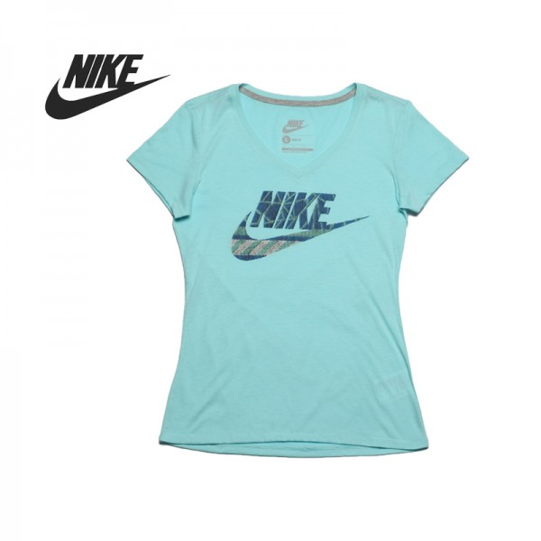 Original  Nike women's knitted T-shirts short-sleeved 589569-484 Sportswear free shipping