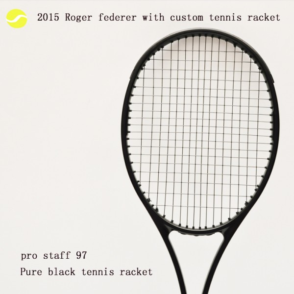 PS 97 Black Racquet Equipped with Bag RogerFederer Tennis Racket,Foamed handle,Foamed hand glue,100% Carbon Fibre Material Frame