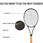 PS97 RogerFederer's favorite Tennis Racket Equipped with Bag, Woven Technology Carbon Fiber Tennis Racket Free Shipping