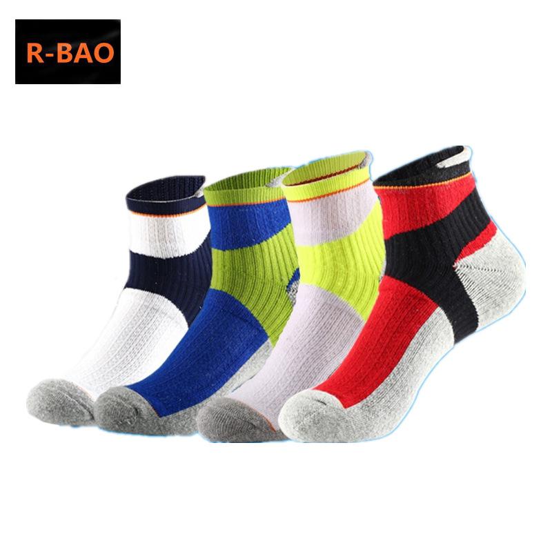 8f6c646cea8 R-BAO 3 Pairs Professional Badminton Basketball Socks Non-slip Men Women Sports  Socks For Running Yoga Tennis Cycling Hiking