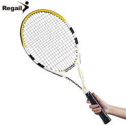 REGAIL Carbon Aluminum Alloy Frame Tennis Racket Regular Grade Unisex Tennis Racket Cellosilk Thread 2 Colors