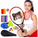 Single  beginner tennis racket Kit Genuine carbon one shot Professional Training