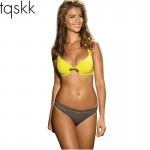 TQSKK 2017 New Sexy Bikini Push Up Swimwear Women Swimsuit Retro Vintage Beachwear Bathing Suits Bikini Set Plus Size Swimwear