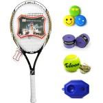 Teloon Tianlong tennis racket and beginner racquet FIRE FLOWER aluminum carbon carbon black F6-