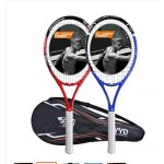 Ultralight carbon tennis racket beginner training men's singles one shot / double shot package