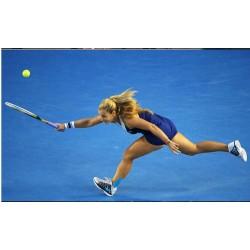 Ultralight carbon tennis racket beginner training men's singles one shot / double shot package
